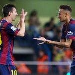 RT @FCBarcelona_es: Es la primera vez en Liga que Messi y @neymarjr coinciden en el once inicial. Ya lo hicieron en la Champions #FCBlive http://t.co/8fMXBiyQhn