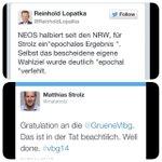 RT @DinkoFejzuli: Wahlreaktionen #vbg14 unten: angelsächsisch; oben: typisch österreichisch @matstrolz @oevp #why? http://t.co/NNHHXt8769