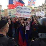 Вслед за колонной на Сахарова вошли противники #маршмира http://t.co/SffieEwdc1