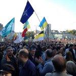 """RT @alekseevamarin: Поражает,что эти """"недолюди"""" пошли на марш за мир"""" с флагами НАТО, мы ведь помним,как они мирно бомбили Югославию. http://t.co/SMdxhjs3k4"""
