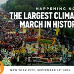 BREAKING: #PeoplesClimate March, the biggest climate march in history is marching through New York City! http://t.co/2JwOa8hAz3