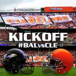 RT @Browns: GAME TIME! Here we go Brownies! Here we go! #BALvsCLE #TimeToBark http://t.co/f8Z9rZKmUb