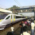 RT @NipunShenghani: #bullettrain has come (for trial) to #India the train is at Billimoria station in #Gujarat Hats off @narendramodi http://t.co/HYy3Ps7mWH