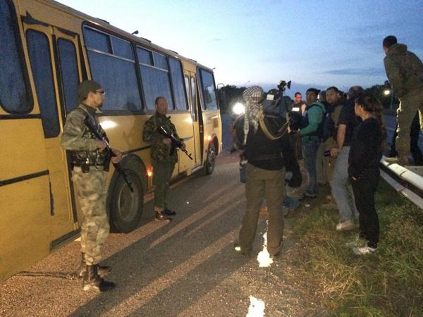 TT @SergeyGall: POW exchange 28:28 Ukr Army brought civilians they arrested on streets in various parts of #Ukraine http://t.co/br12TpYGpE