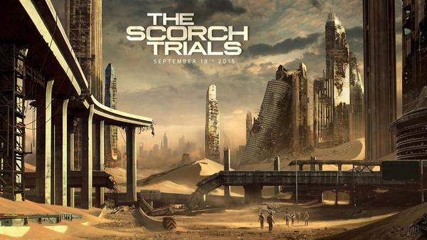Huge news! Scorch Trials, sequel to #MazeRunner, will arrive Sept. 18, 2015. AND here is @wesball's first concept art http://t.co/KqfbTtAf5u
