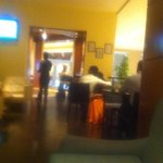 Full-on PDA (of the tackiest kind) in a 5-star hotel bar. The girl looked drugged. The bloke was busy watching footie