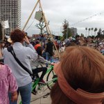 Bicycle-powered stage at #PeoplesClimate #oakland http://t.co/uYeVWpGI7c