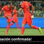 RT @FCBarcelona_es: A cinco minutos del inicio del Levante-Barça, repasamos el 11 inicial http://t.co/4mkeYjtXxE
