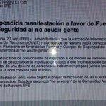 RT @gorkaotxoa: Suspendida una mani d una Asociación de Víctimas en Iruña en apoyo a las Fuerzas d Seguridad del Estado #LoNuncaVisto http://t.co/Tn4Vanovu5