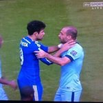 However after seeing this image I cant believe that Diego Costa remained on the pitch. http://t.co/WwjyG9CXzx