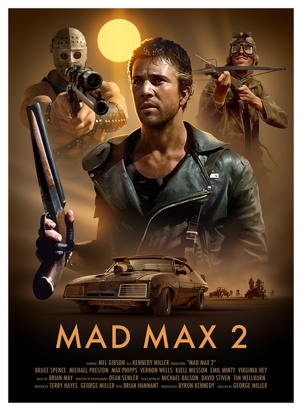 I had to put this one aside for a while to work on another job, but my Mad Max 2 poster is now complete. http://t.co/379kBUvqq2