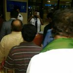 RT @DrMuradPTI: Chairman Imran Khan standing in line at the airport. Standing True BY HIS Words. No VIP Culture. http://t.co/WbyM3zXbEc