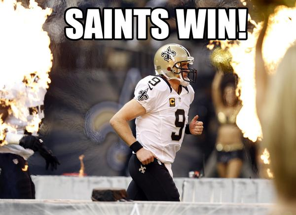 Saints WIN! 20-9 #MINvsNO http://t.co/ILGKYsFC3C