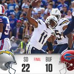 RT @Chargers: Its another #CHARGERS win! Final Score: #Chargers 22 Bills 10 #SDvsBUF http://t.co/8Jjj5lzsBm