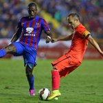 RT @FCBarcelona_es: FOTO - Iniesta, durante el partido de este domingo. Esta y más fotos, en la galería http://t.co/OIMXkvFfMC http://t.co/svf7kRMzse