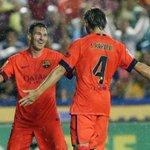 Levante - FC Barcelona (0-5) #FCBlive 33 Neymar, 43 Rakitic, 56 Sandro Ramírez, 63 Pedro, 76 Messi http://t.co/ZAQ9puFs9V