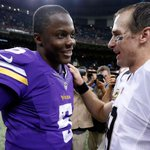 RT @Saints: Brees and Bridgewater: the 14-year vet & rookie chat after the game #MINvsNO