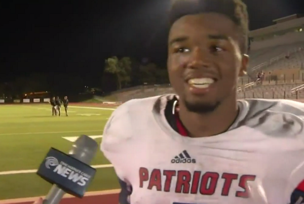 VIDEO The most positive HS football player gives an extremely spirited postgame speech