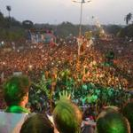 A sea of the passionate and brave people of Karachi coming out for Naya Pakistan. http://t.co/E31XQojj0v