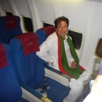 RT @wajahatkhans: Imran Khan traveled in Shaheen Air and sat among common passengers #Karachi #islamabad Picture: chachu @PTIofficial http://t.co/KuZKyqJCYr
