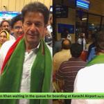 RT @PtiSouthKarachi: Imran Khan In the Line at Karachi AirPort End Of #VipCulture #PTI4Karachi http://t.co/mWRPtXOCHy