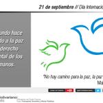 """""""No hay camino para la paz, la paz es el camino"""": Mahatma Gandhi #SomosGenteDePaz #VenezuelaTerritorioDePaz http://t.co/W0yPYjkJE7"""