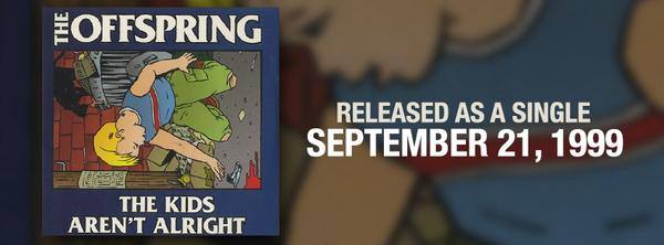 """""""The Kids Aren't Alright"""" was released as a single on this date in 1999! http://t.co/3FfkBo4BjJ"""
