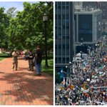 RT @JuddLegum: Obama impeachment rally (May 2014) v. Climate change action rally (Sept 2014) http://t.co/6PyI6NAnTA