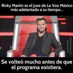Ricky Martin siempre adelantado a su tiempo. #LoMejorDeLaVoz http://t.co/NI0ZcyQSV6 http://t.co/imUfzarRv9