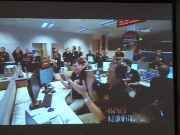 MISSION COMPLETE: #Maven has successfully inserted itself into Mars' orbit! Now, data collection begins. #NASASocial http://t.co/tLLHG01BaI