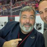 Back behind the mic in the penalty box for another season of #Caps hockey with @ByronHudtloff. #NHL http://t.co/RwZMnKCvgH