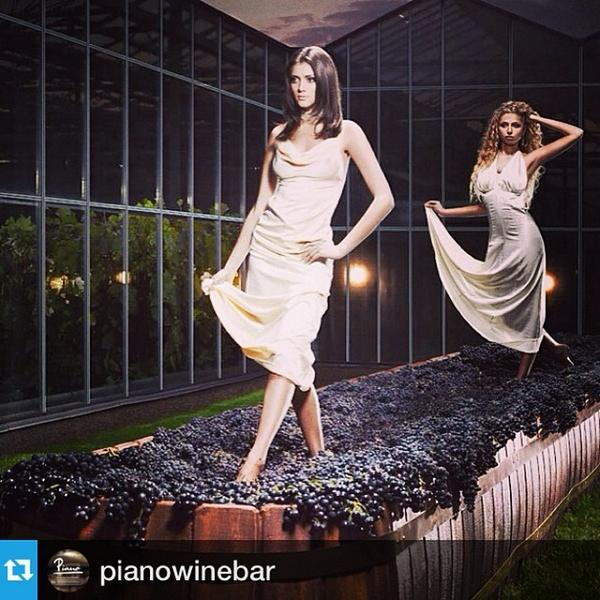 The #Wine #Podium & #Art of #Grape-stomping2.0 via @pianowinebar on IG. #HauteCouture #models #stomping #winemaki... http://t.co/AMfXO45TGt