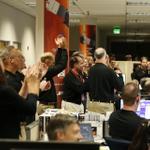 RT @NASA: The team is seen celebrating @MAVEN2Mars insertion around #Mars tonight @LockheedMartin mission control http://t.co/I0qar0o0la