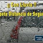 Buenos días #Madrid Comienza la semana con el asfalto mojado, respeta distancia de seguridad y modera la velocidad http://t.co/kL6zuIjPJK