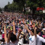Meditation by Art of Living volunteers in Mexico #WorldPeaceDay http://t.co/Y7qVNypraE