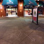RT @dgoold: Part of the #Ferguson protests tonight at Busch included chalk outlines around the stadium ... http://t.co/ZiNS2IBiCu