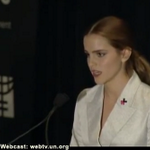 """Bravo Emma Watson!! Why has the word (#feminism) become such an uncomfortable one?"""" #HeForShe http://t.co/MGk0eV5gCd http://t.co/jL3pzklj3p"""