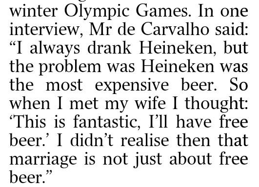 Words of wisdom about marriage from the man who married the heiress to the Heineken billions... http://t.co/5JwwZjTCqz