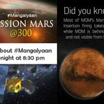 Last leg of #Mangalyaan's journey: Speciall show on CNN-IBN at 8:30pm