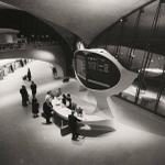 Information desk, Trans World Airlines Terminal, JFK Airport, New York, 1956 (By Balthazar Korab) http://t.co/rY0v8U2wrh