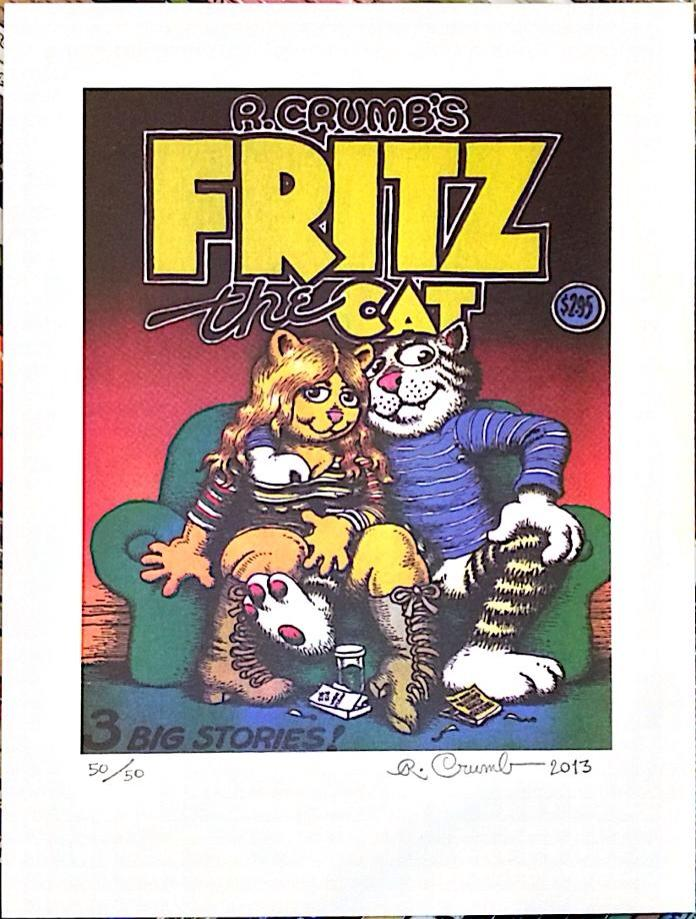 Fritz the Cat ve Mr.Natural'ın ilk 50 kopyası ''R. CRUMB'' tarafından imzalı ex-librisleriyle @flaneurcomics dükkanda http://t.co/QB094kafrW