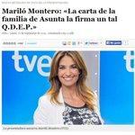 Mariló Montero:«La carta de la familia de Asunta la firma un tal Q.D.E.P.» http://t.co/laUXnOIe20 http://t.co/M0kkbDTibC NIVEL DE TV PÚBLICA
