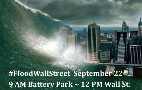 Tremors in Battery Park ~ #WaveOfAction to #FloodWallStreet at Noon ~ http://t.co/iUb5SRcR2k