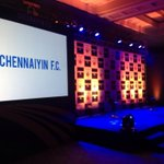 RT @ChennaiyinFC: The stage is set for the unveiling of the logo. The logo will be unveiled at 5 PM! http://t.co/NXyDbdOshS