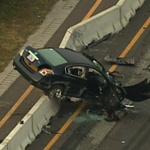 RT @SeanWFTS: Aerial photo of car in #fatal I-75 #wrongway crash in Pasco County; 25-year-old Tampa woman died from injuries. http://t.co/WKHgKurNrt