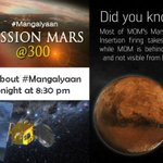 RT @joel__Samuel: @IBNLive All about the Mars Orbiter Mission #Mangalyaan 's last thrust towards #Mars @isro spl show on CNN-IBN 8:30pm htt…