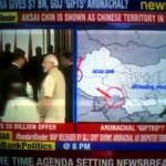 If this map is part of official MoU then Modi has made Indias stand clear on AP & Aksai Chin to China #Shame http://t.co/dxDLnpCRNd