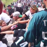 """RT @Gritz_N_GREYvy: """"@SBNation: Eagles fans get in a huge stadium brawl ... with other Eagles fans. http://t.co/gUSdW4hBRv http://t.co/XGQzJ9DNs4"""" #philly"""