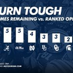 RT @AuburnTigers: No. 5 #Auburns already beaten a ranked opponent on the road. Of current Top 10 teams, remaining ranked opponents: http://t.co/viexZM9R49