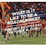 RT @UTSA: Not yet a Roadrunner? Want to know what its like to be one? Come to #UTSA Day! Oct. 18! info: http://t.co/iDYjTic22z http://t.co/DpzHqI0KPE